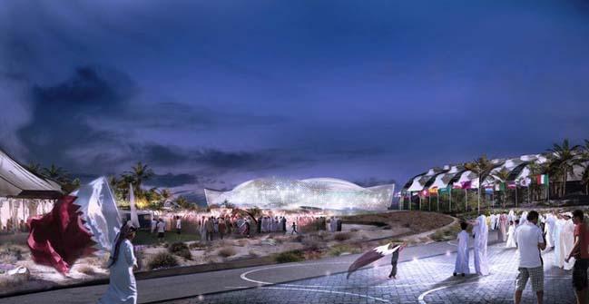 Kiến trúc tuyệt đẹp của sân vận động tại Qatar