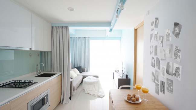 Tối ưu không gian cho nhà nhỏ đẹp với rèm vải