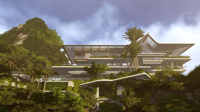 xalima water pavilion thiet ke biet thu dep sieu sang 01 Mê mẩn vớ cách thiết kếi biệt thự đẹp siêu sang giữa biển cả
