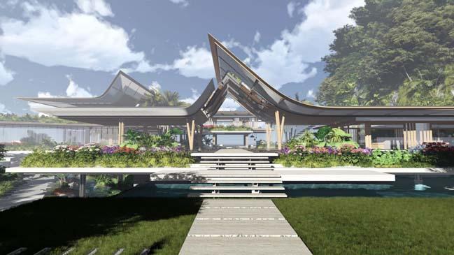 xalima water pavilion thiet ke biet thu dep sieu sang 03 Mê mẩn vớ cách thiết kếi biệt thự đẹp siêu sang giữa biển cả