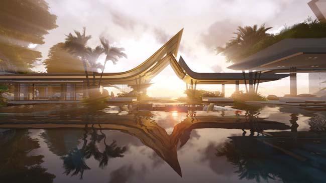 xalima water pavilion thiet ke biet thu dep sieu sang 04 Mê mẩn vớ cách thiết kếi biệt thự đẹp siêu sang giữa biển cả