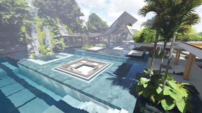 xalima water pavilion thiet ke biet thu dep sieu sang 05 Mê mẩn vớ cách thiết kếi biệt thự đẹp siêu sang giữa biển cả