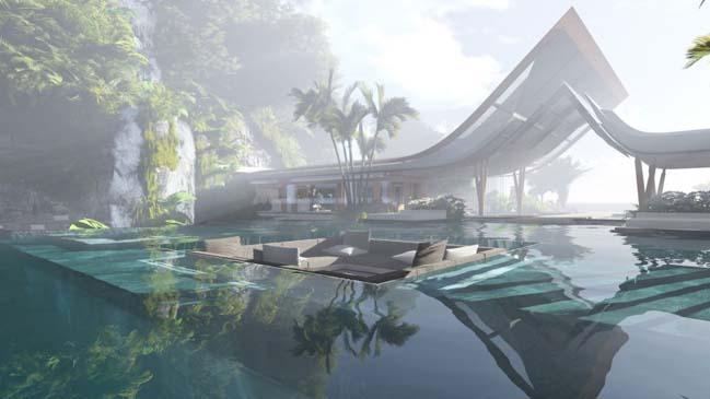 xalima water pavilion thiet ke biet thu dep sieu sang 06 Mê mẩn vớ cách thiết kếi biệt thự đẹp siêu sang giữa biển cả