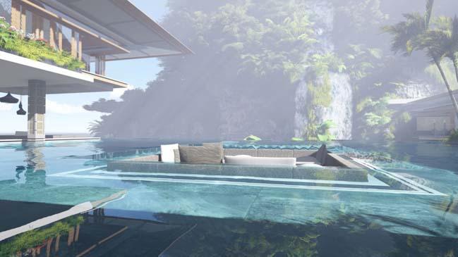xalima water pavilion thiet ke biet thu dep sieu sang 09 Mê mẩn vớ cách thiết kếi biệt thự đẹp siêu sang giữa biển cả