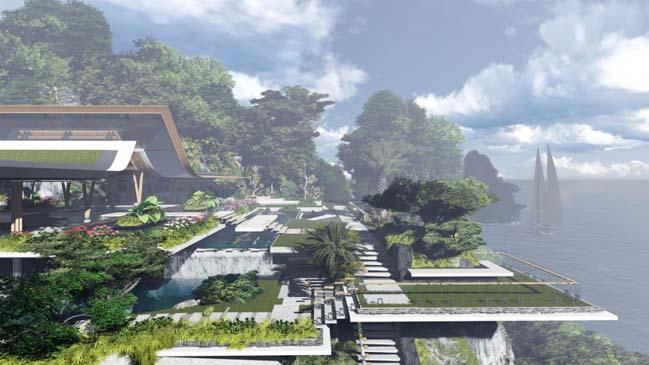 xalima water pavilion thiet ke biet thu dep sieu sang 10 Mê mẩn vớ cách thiết kếi biệt thự đẹp siêu sang giữa biển cả