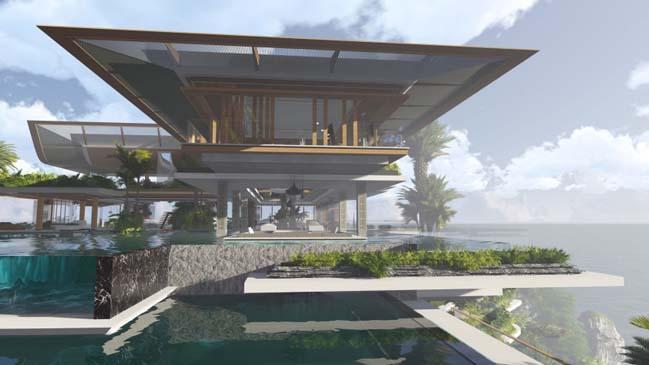 xalima water pavilion thiet ke biet thu dep sieu sang 11 Mê mẩn vớ cách thiết kếi biệt thự đẹp siêu sang giữa biển cả