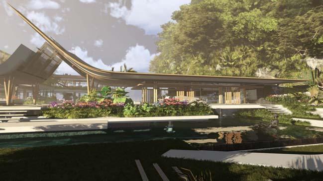 xalima water pavilion thiet ke biet thu dep sieu sang 12 Mê mẩn vớ cách thiết kếi biệt thự đẹp siêu sang giữa biển cả