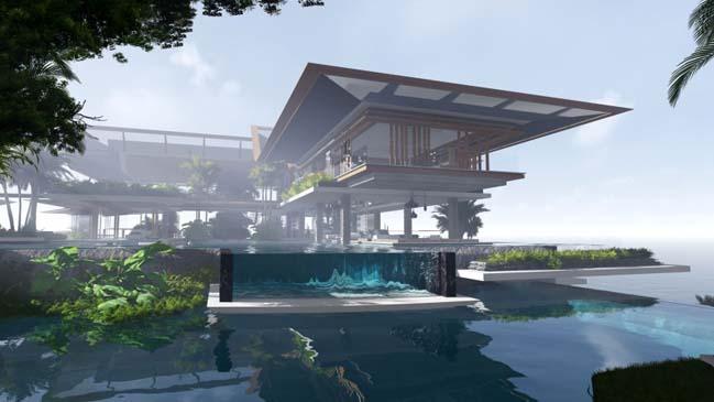 xalima water pavilion thiet ke biet thu dep sieu sang 16 Mê mẩn vớ cách thiết kếi biệt thự đẹp siêu sang giữa biển cả