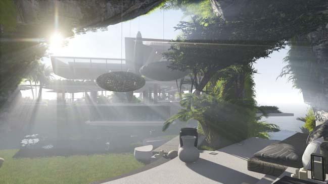 xalima water pavilion thiet ke biet thu dep sieu sang 18 Mê mẩn vớ cách thiết kếi biệt thự đẹp siêu sang giữa biển cả