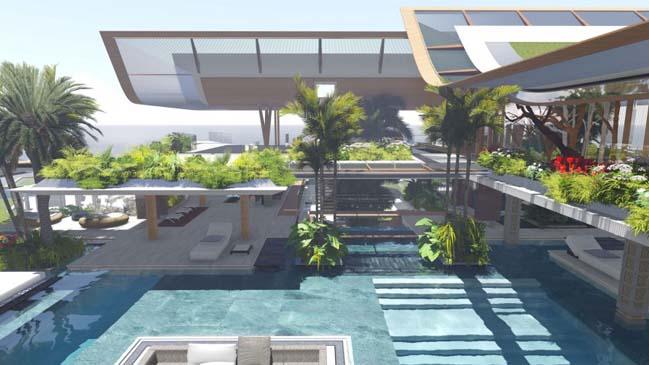 xalima water pavilion thiet ke biet thu dep sieu sang 20 Mê mẩn vớ cách thiết kếi biệt thự đẹp siêu sang giữa biển cả