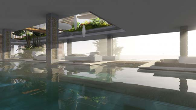 xalima water pavilion thiet ke biet thu dep sieu sang 21 Mê mẩn vớ cách thiết kếi biệt thự đẹp siêu sang giữa biển cả