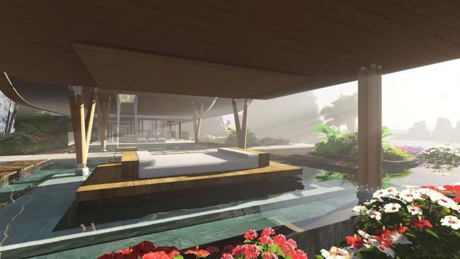 xalima water pavilion thiet ke biet thu dep sieu sang 22 Mê mẩn vớ cách thiết kếi biệt thự đẹp siêu sang giữa biển cả