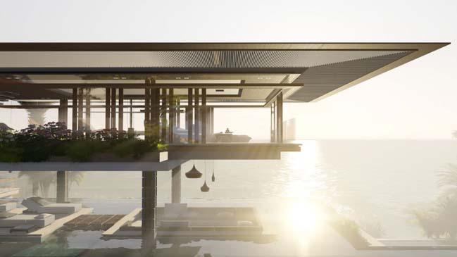 xalima water pavilion thiet ke biet thu dep sieu sang 23 Mê mẩn vớ cách thiết kếi biệt thự đẹp siêu sang giữa biển cả
