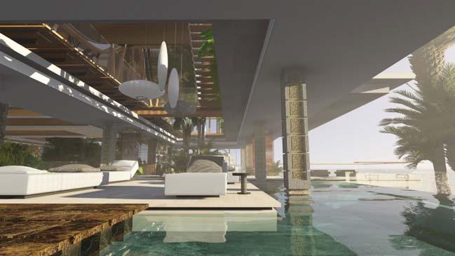 xalima water pavilion thiet ke biet thu dep sieu sang 24 Mê mẩn vớ cách thiết kếi biệt thự đẹp siêu sang giữa biển cả