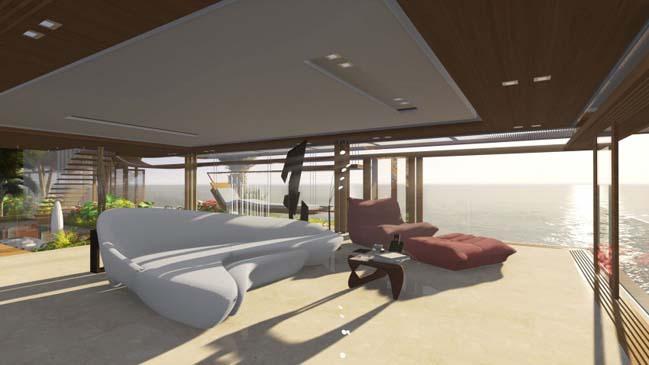 xalima water pavilion thiet ke biet thu dep sieu sang 34 Mê mẩn vớ cách thiết kếi biệt thự đẹp siêu sang giữa biển cả