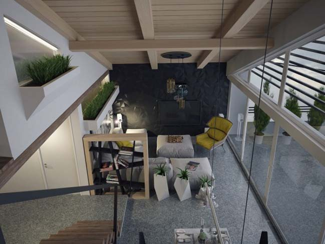 Căn hộ penthouse 2 tầng với thiết kế hiện đại ấm cúng