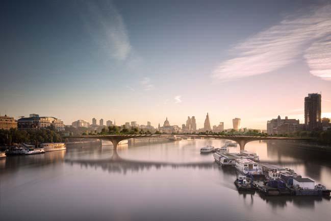 Kiến trúc xanh cho cầu đi bộ tại Luân Đôn