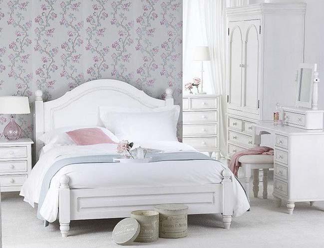 17 sắc thái màu trắng cho phòng ngủ đẹp