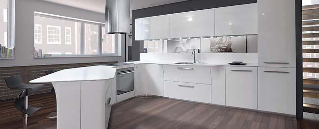 Vegas: Mẫu nhà bếp đẹp với thiết kế tối giản