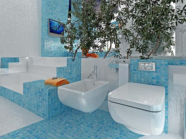 Mẫu phòng tắm đẹp lấy cảm hứng từ đại dương