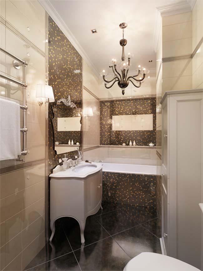 Căn hộ chung cư với nội thất tân cổ điển Neoclassical