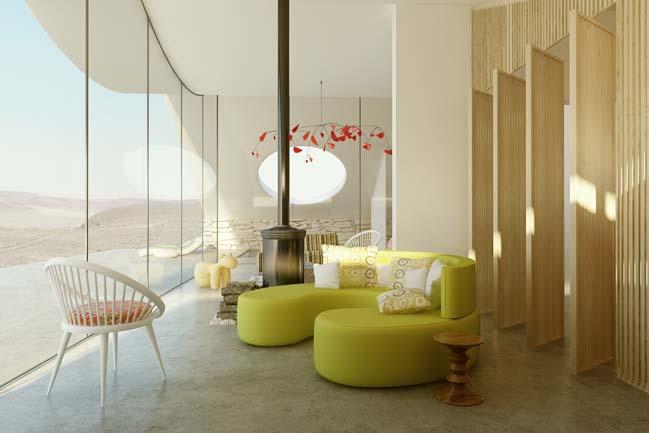 Mẫu thiết kế nhà đẹp giữa sa mạc