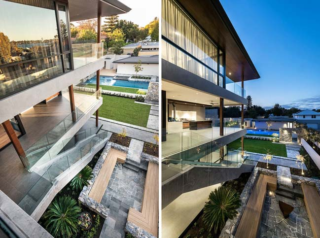 Biệt thự đẹp 3 tầng với kiến trúc hiện đại sang trọng