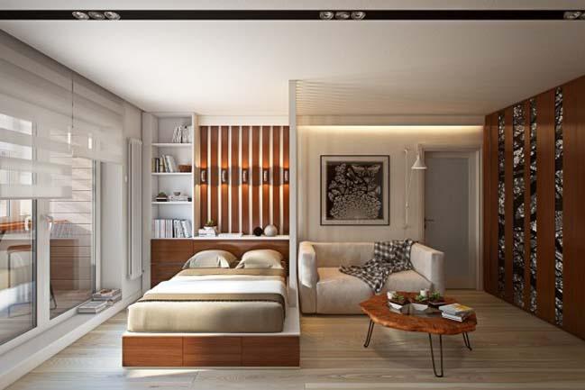 Giải pháp cho căn hộ chung cư nhỏ 1 phòng ngủ
