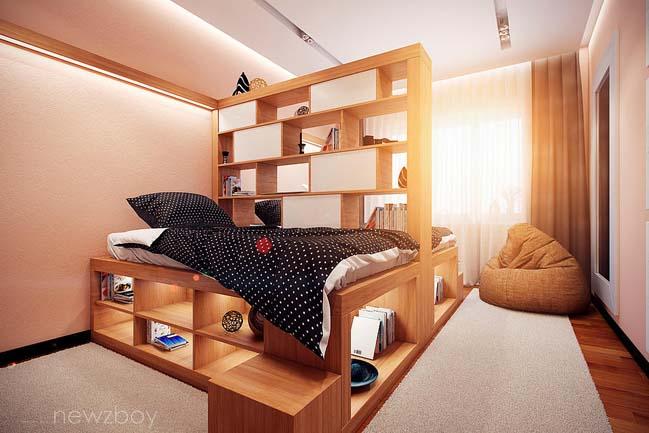Mẫu phòng ngủ đẹp gọn gàng cho 2 người