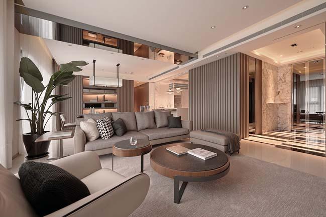 thiet ke noi that can ho sang trong 01 Cùng nhìn qua nội thất căn hộ với thiết kế đương đại sang trọng