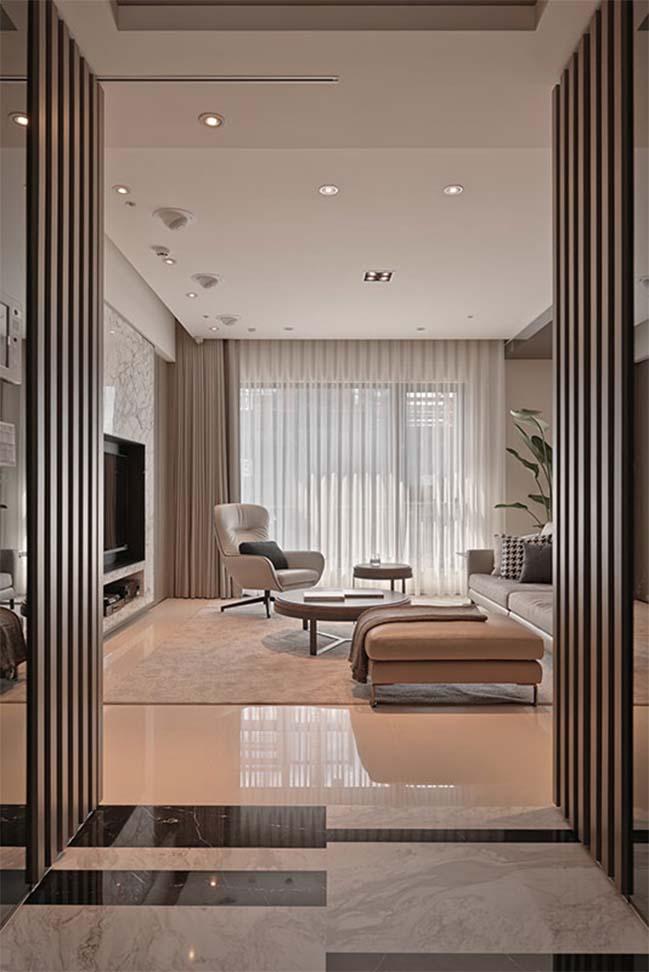 thiet ke noi that can ho sang trong 02 Cùng nhìn qua nội thất căn hộ với thiết kế đương đại sang trọng