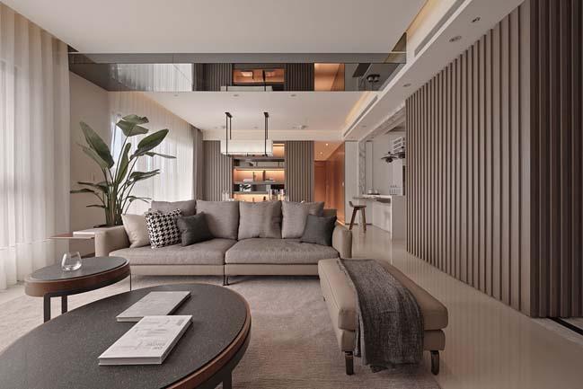 thiet ke noi that can ho sang trong 04 Cùng nhìn qua nội thất căn hộ với thiết kế đương đại sang trọng