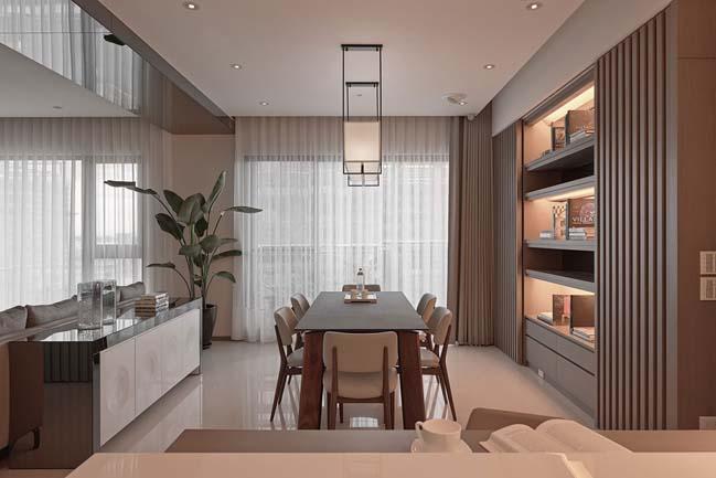 thiet ke noi that can ho sang trong 05 Cùng nhìn qua nội thất căn hộ với thiết kế đương đại sang trọng