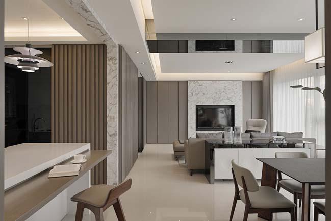 thiet ke noi that can ho sang trong 07 Cùng nhìn qua nội thất căn hộ với thiết kế đương đại sang trọng