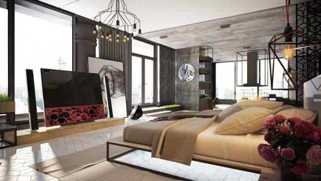 phong ngu dep voi thiet ke sang tao 02 Chiêm ngưỡng 5 mẫu phòng ngủ đẹp với thiết kế sáng tạo