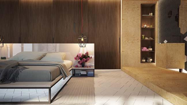 phong ngu dep voi thiet ke sang tao 04 Chiêm ngưỡng 5 mẫu phòng ngủ đẹp với thiết kế sáng tạo