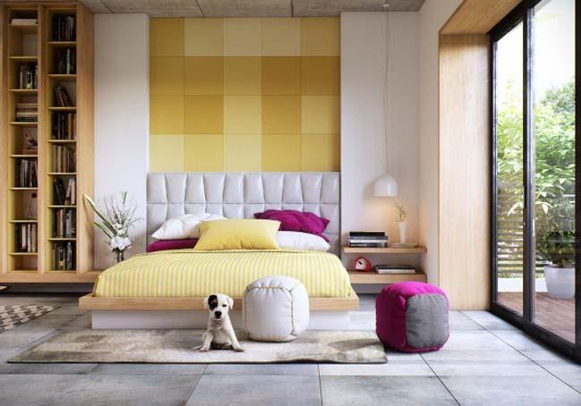phong ngu dep voi thiet ke sang tao 06 Chiêm ngưỡng 5 mẫu phòng ngủ đẹp với thiết kế sáng tạo
