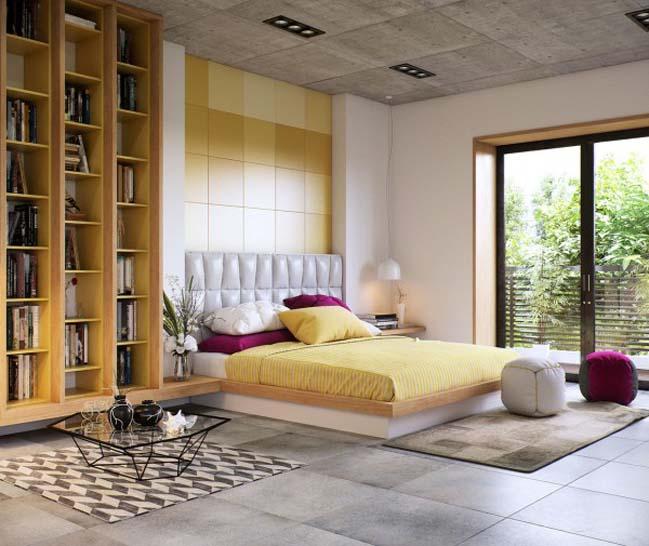 phong ngu dep voi thiet ke sang tao 07 Chiêm ngưỡng 5 mẫu phòng ngủ đẹp với thiết kế sáng tạo