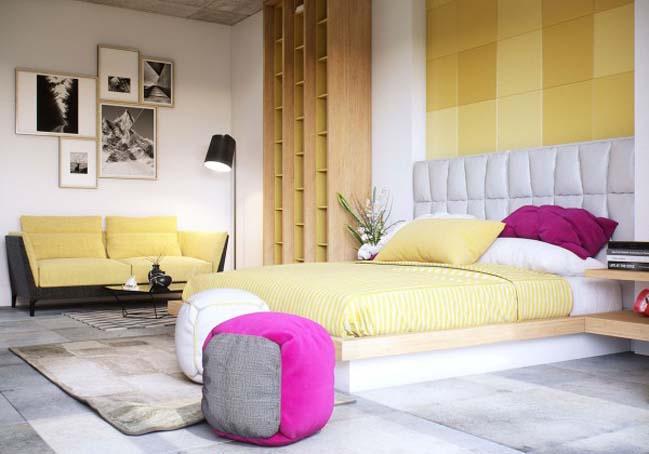 phong ngu dep voi thiet ke sang tao 09 Chiêm ngưỡng 5 mẫu phòng ngủ đẹp với thiết kế sáng tạo