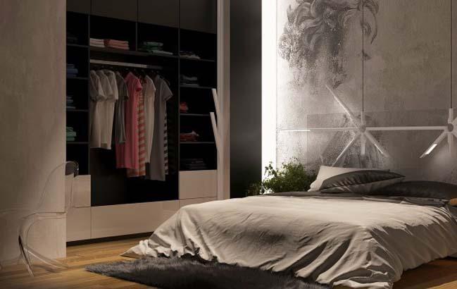 phong ngu dep voi thiet ke sang tao 15 Chiêm ngưỡng 5 mẫu phòng ngủ đẹp với thiết kế sáng tạo