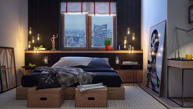 phong ngu dep voi thiet ke sang tao 17 Chiêm ngưỡng 5 mẫu phòng ngủ đẹp với thiết kế sáng tạo