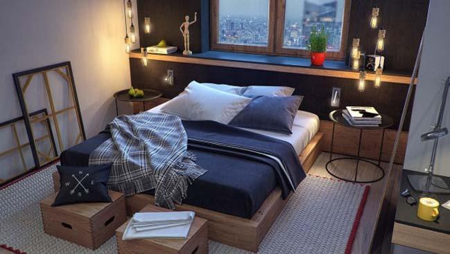 phong ngu dep voi thiet ke sang tao 18 Chiêm ngưỡng 5 mẫu phòng ngủ đẹp với thiết kế sáng tạo