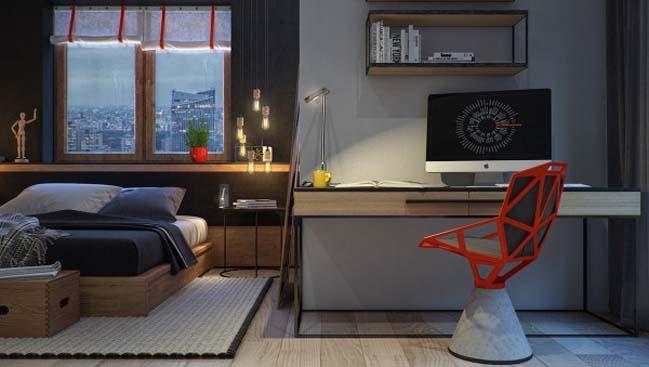 phong ngu dep voi thiet ke sang tao 20 Chiêm ngưỡng 5 mẫu phòng ngủ đẹp với thiết kế sáng tạo