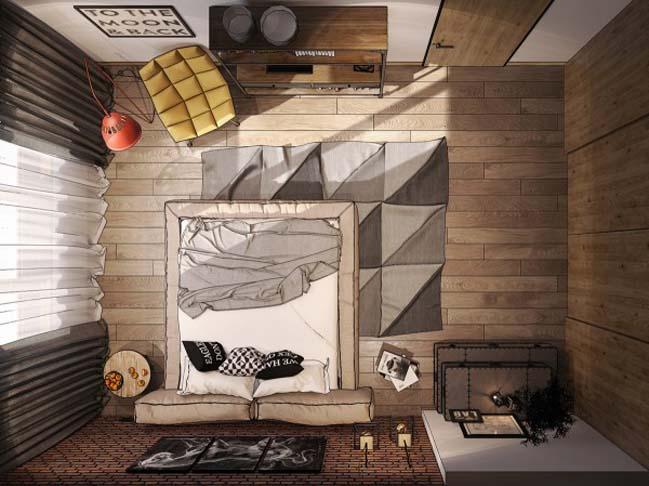 phong ngu dep voi thiet ke sang tao 27 Chiêm ngưỡng 5 mẫu phòng ngủ đẹp với thiết kế sáng tạo