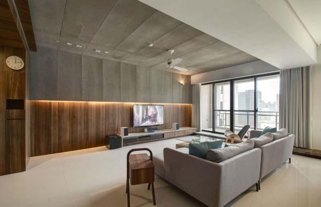 thiet ke noi that can ho hien dai sang trong 01 Thiết kế kiến trúc và nội thất căn hộ đơn giản nhưng vẫn sang trọng
