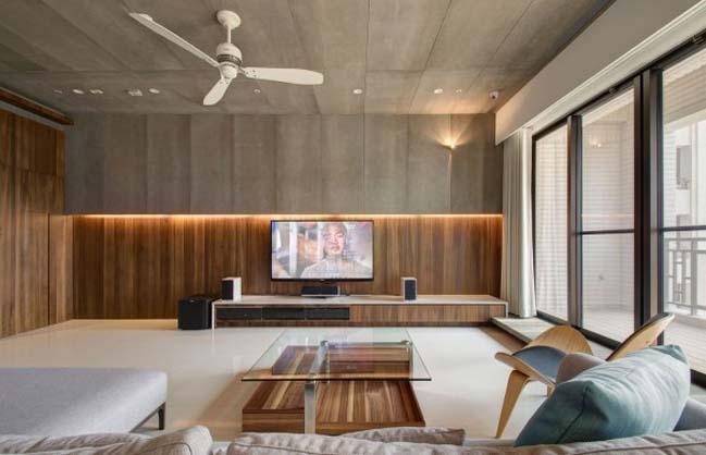 thiet ke noi that can ho hien dai sang trong 02 Thiết kế kiến trúc và nội thất căn hộ đơn giản nhưng vẫn sang trọng