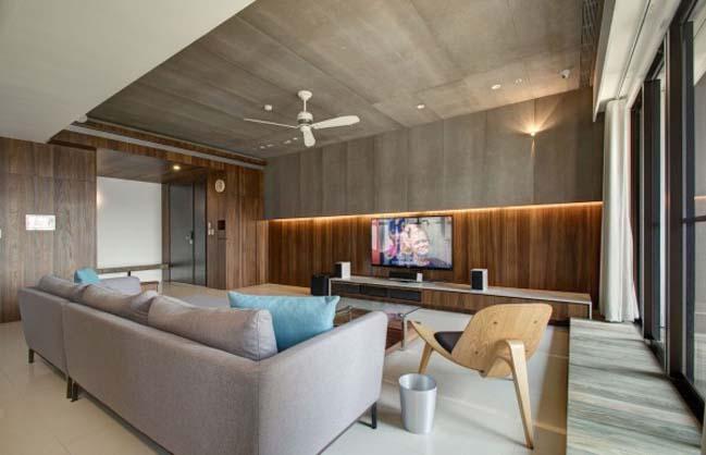 thiet ke noi that can ho hien dai sang trong 03 Thiết kế kiến trúc và nội thất căn hộ đơn giản nhưng vẫn sang trọng