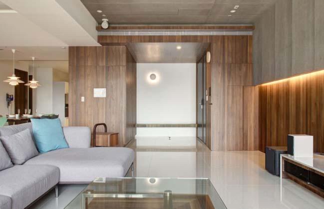 thiet ke noi that can ho hien dai sang trong 04 Thiết kế kiến trúc và nội thất căn hộ đơn giản nhưng vẫn sang trọng
