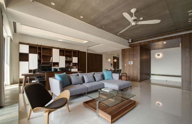 thiet ke noi that can ho hien dai sang trong 05 Thiết kế kiến trúc và nội thất căn hộ đơn giản nhưng vẫn sang trọng