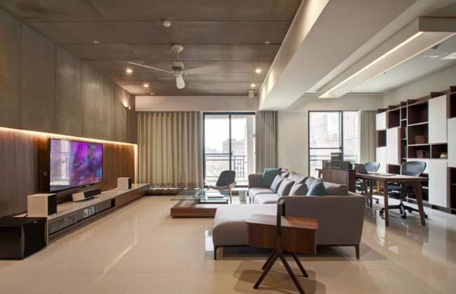 thiet ke noi that can ho hien dai sang trong 06 Thiết kế kiến trúc và nội thất căn hộ đơn giản nhưng vẫn sang trọng